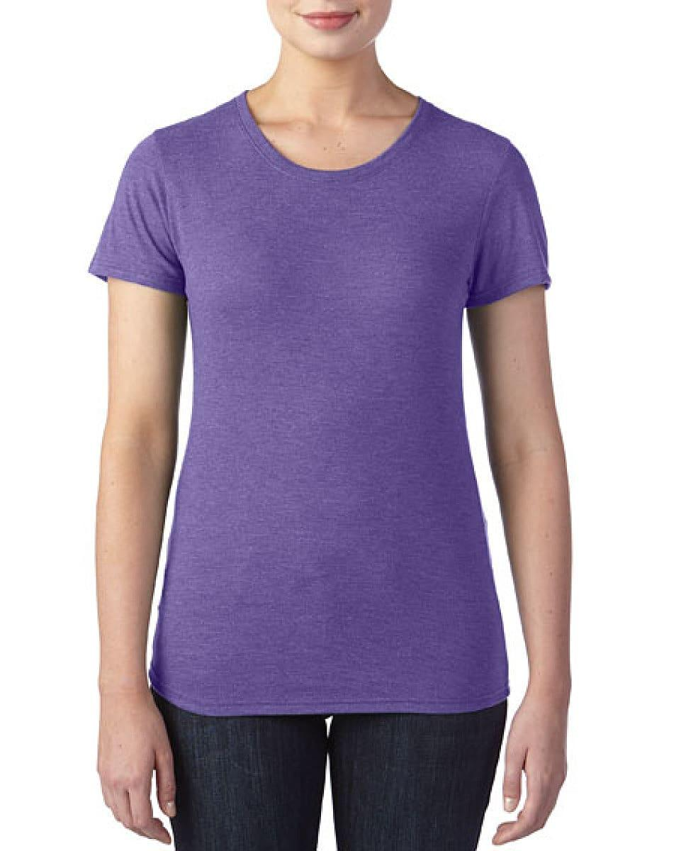 Anvil Womens Triblend T-Shirt in Heather Aubergine (Product Code: 6750L)