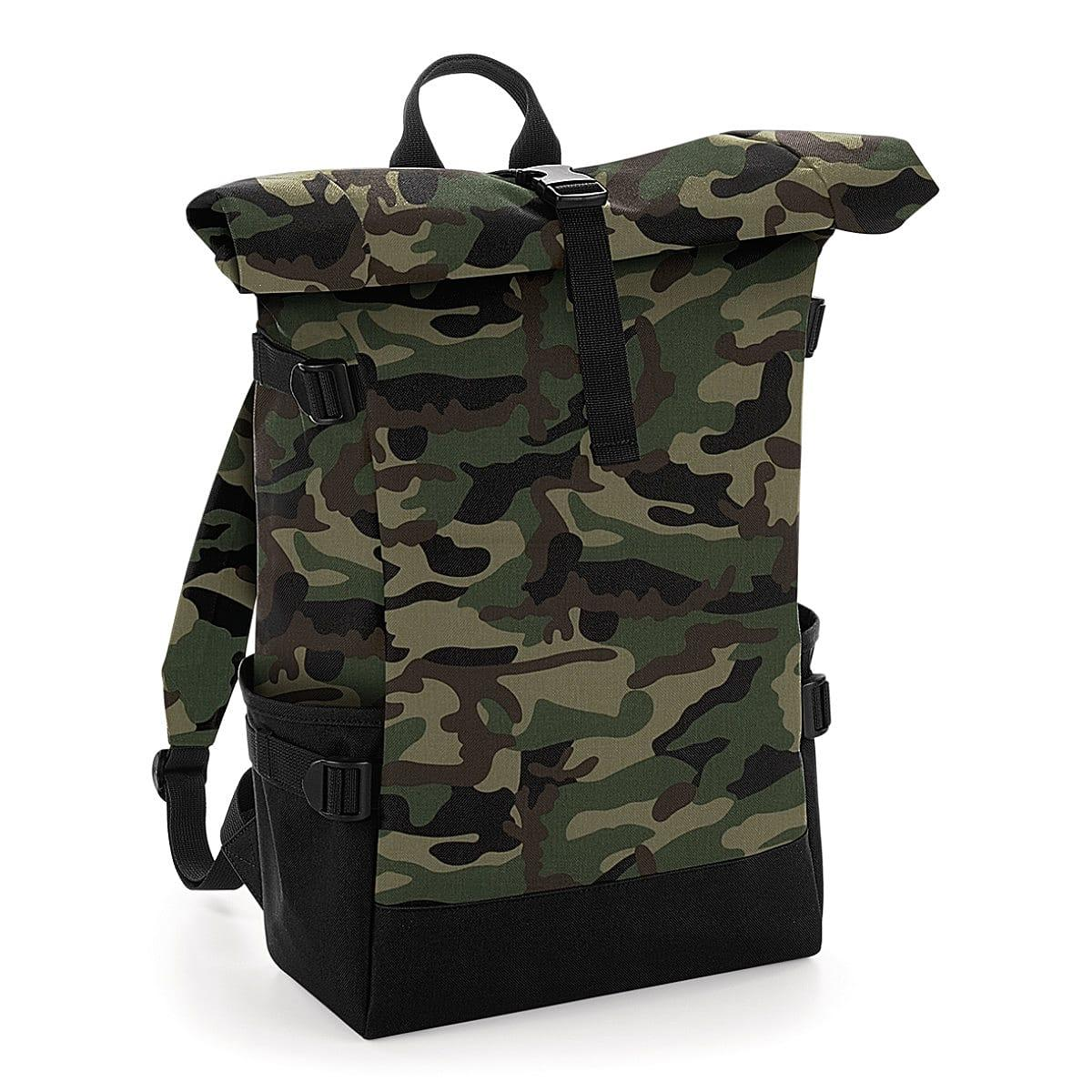 Bagbase Block Roll-Top Backpack in Jungle Camo / Black (Product Code: BG858)