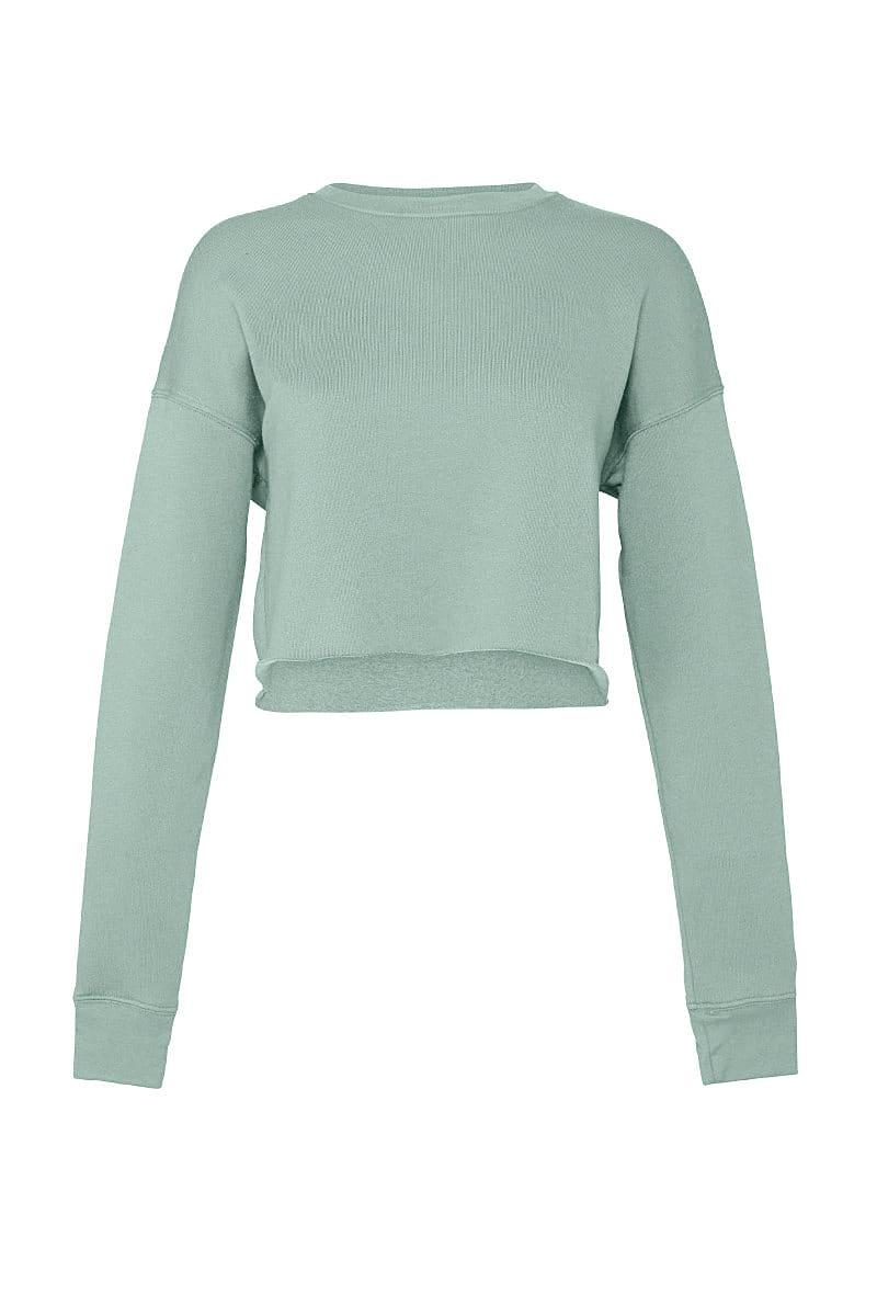 Bella+Canvas Womens Cropped Fleece Crew in Dusty Blue (Product Code: BE7503)