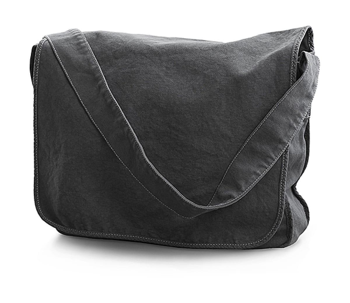 Jassz Bags Canvas Messenger Bag in Pepper (Product Code: CA37309MB)