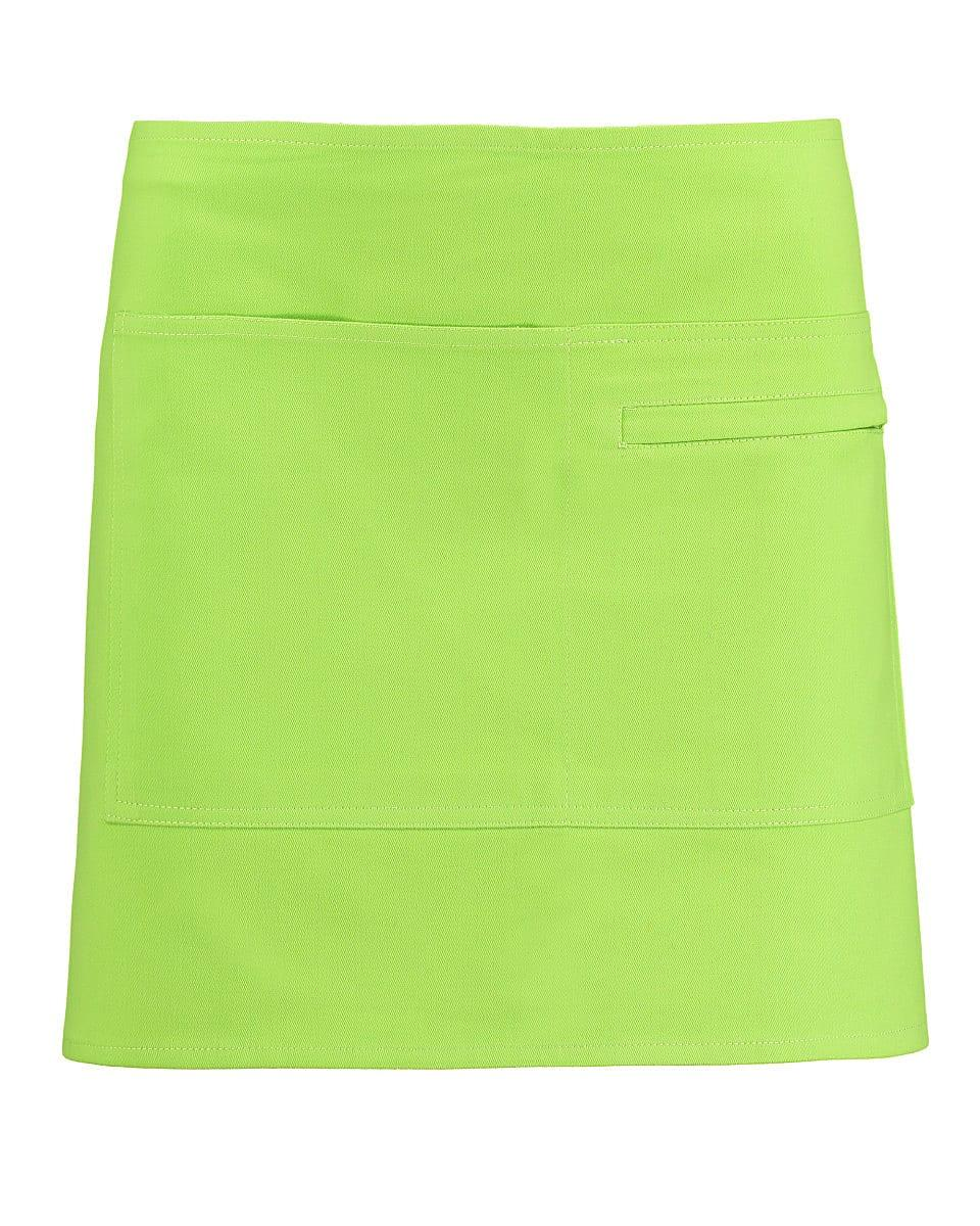 Bargear Unisex Short Bar Apron in Lime (Product Code: KK513)