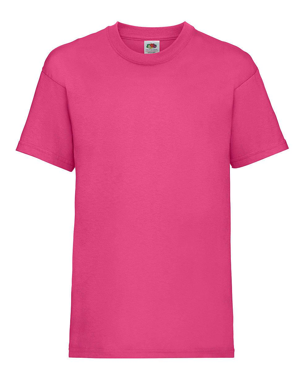 Fruit Of The Loom Childrens Valueweight T-Shirt in Fuchsia (Product Code: 61033)