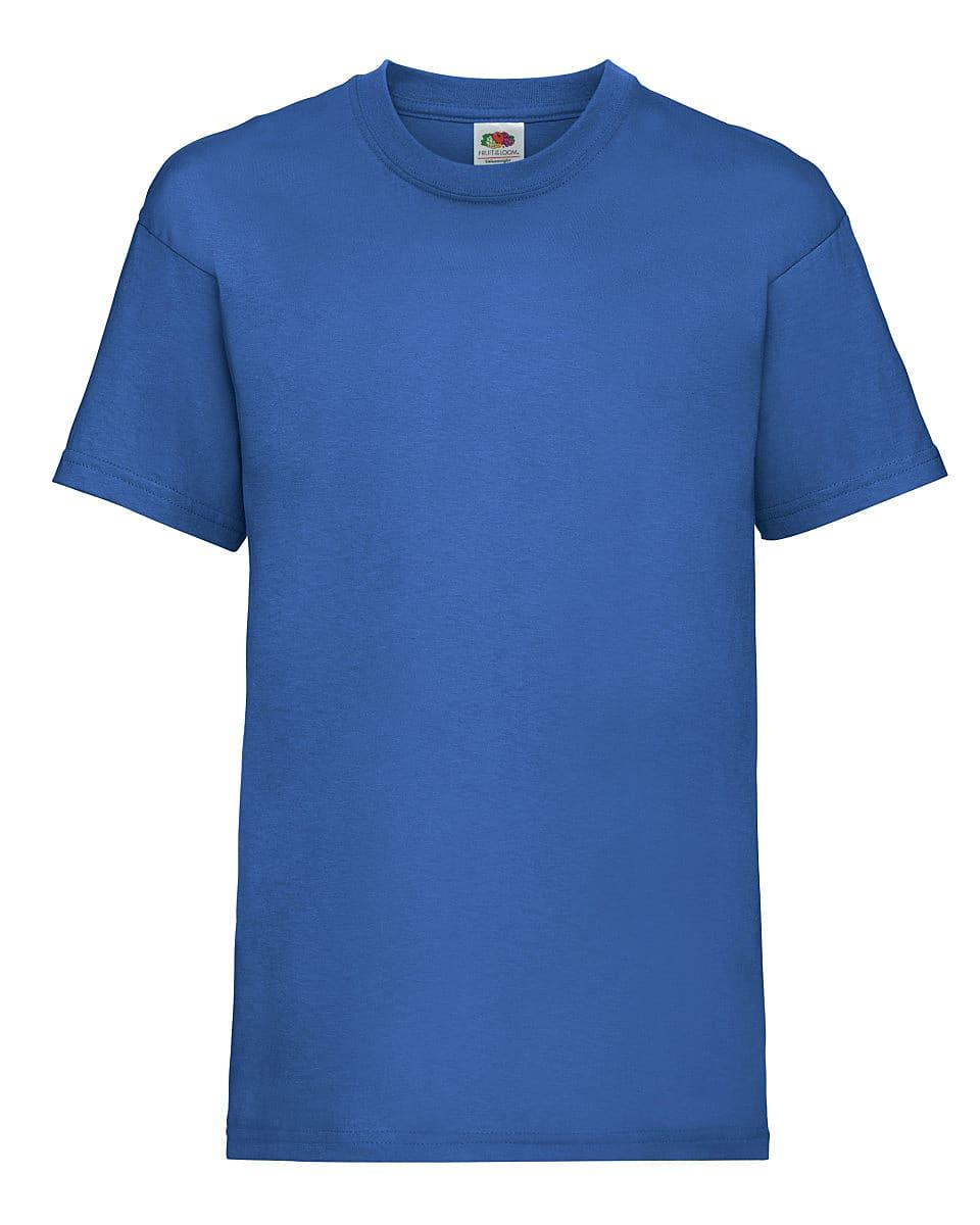 Fruit Of The Loom Childrens Valueweight T-Shirt in Royal Blue (Product Code: 61033)