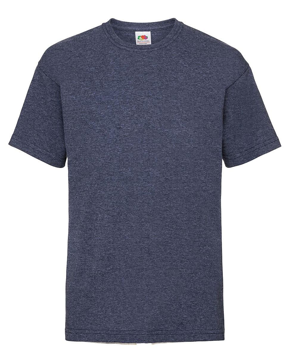 Fruit Of The Loom Childrens Valueweight T-Shirt in Vintage Heather Navy (Product Code: 61033)