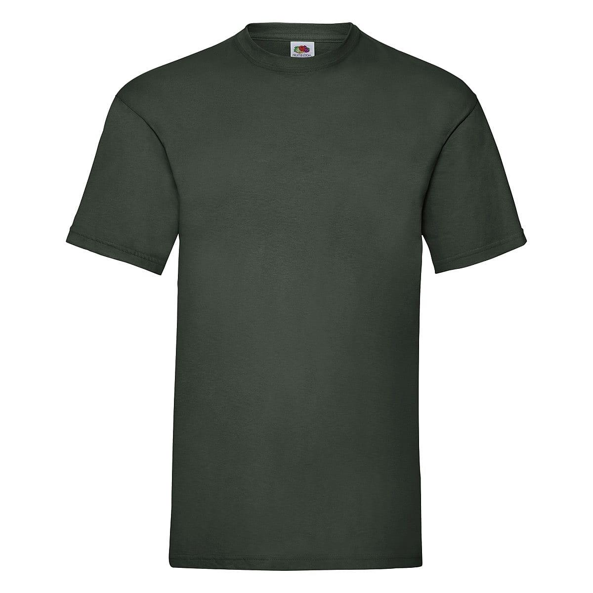 Fruit Of The Loom Valueweight T-Shirt in Bottle Green (Product Code: 61036)