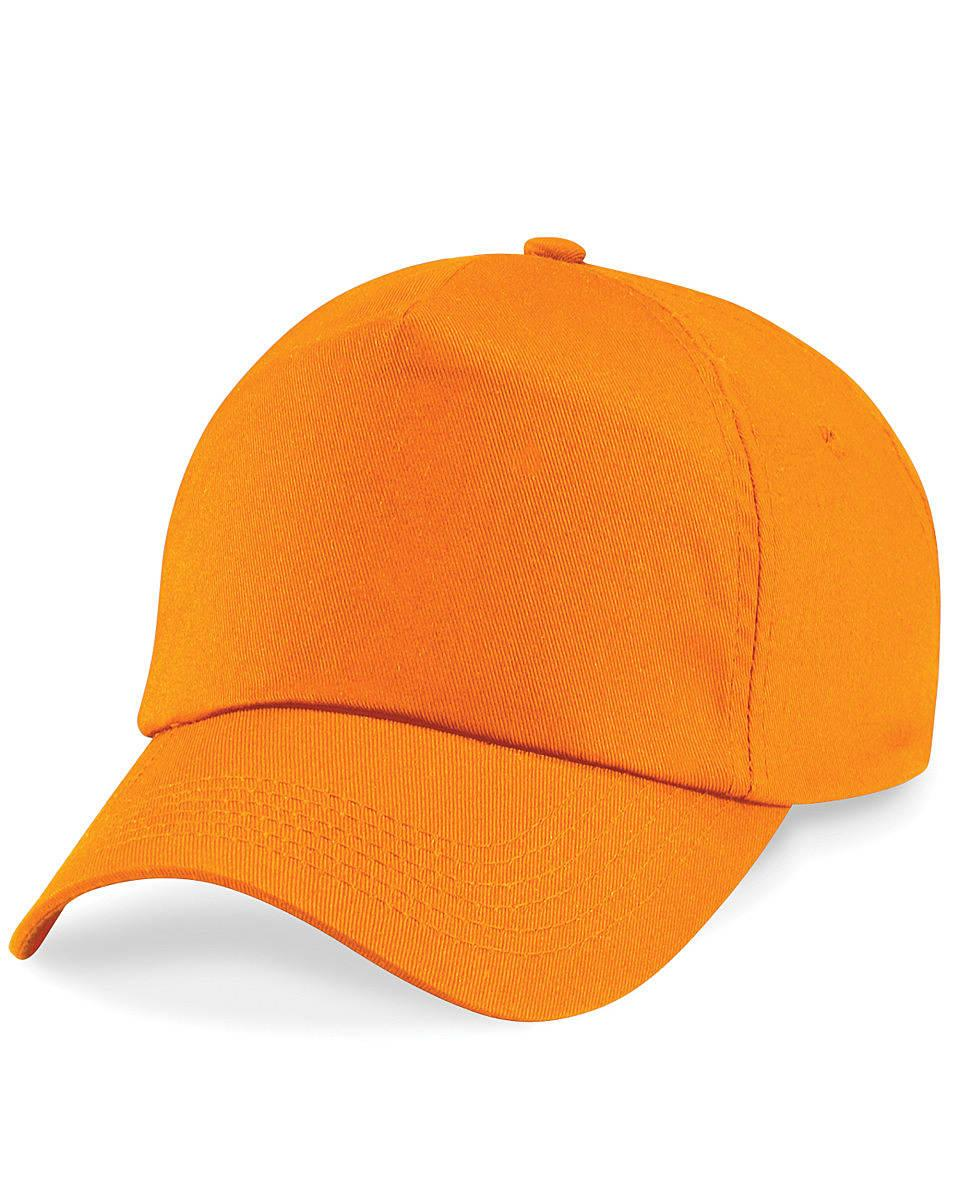 Beechfield Junior Original 5 Panel Cap in Orange (Product Code: B10B)