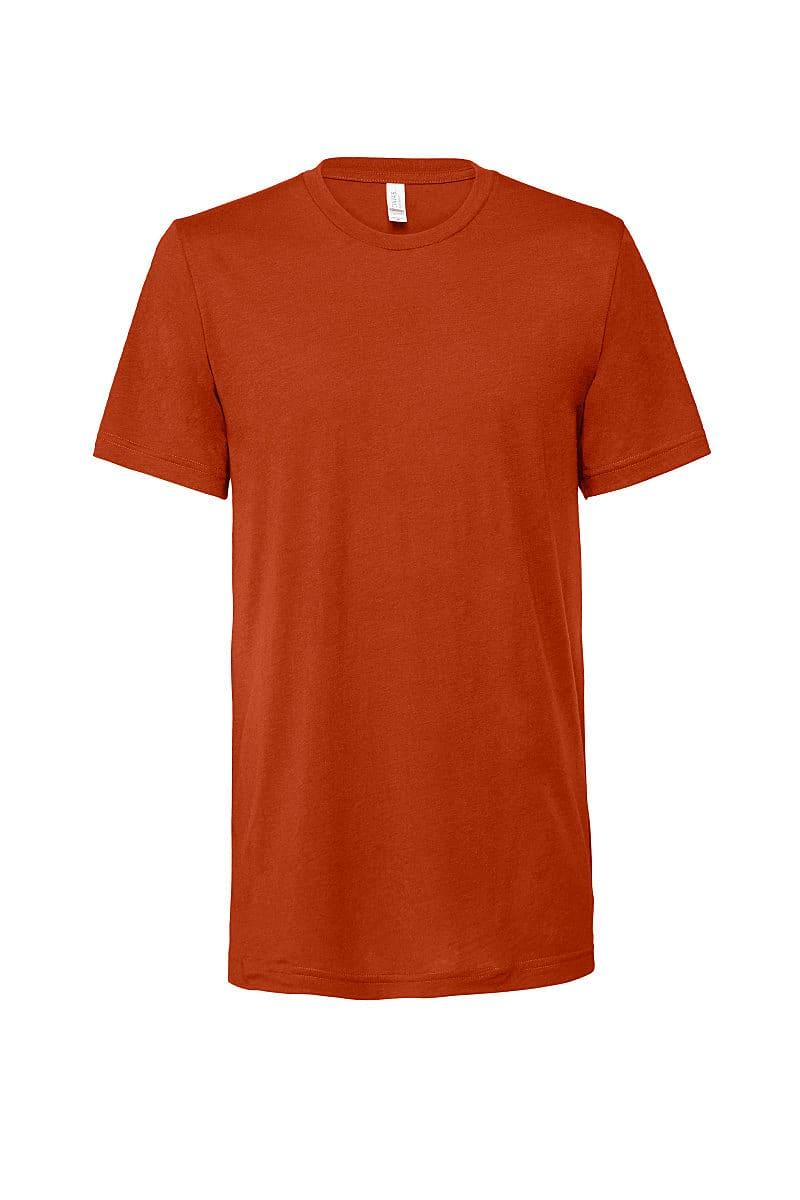 Bella Canvas Mens Tri-blend Short-Sleeve T-Shirt in Brick Triblend (Product Code: CA3413)