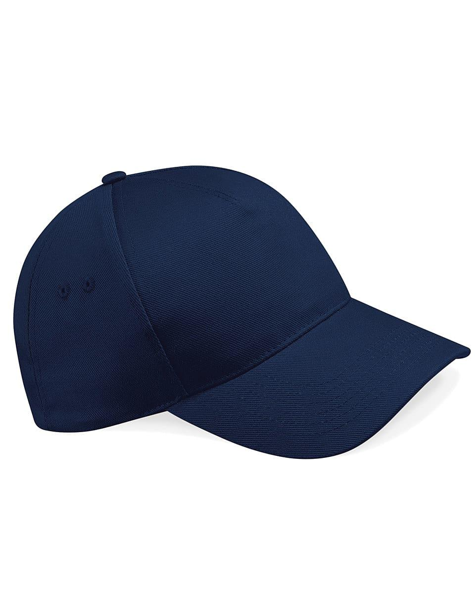 Beechfield Ultimate 5 Panel Cap in French Navy (Product Code: B15)
