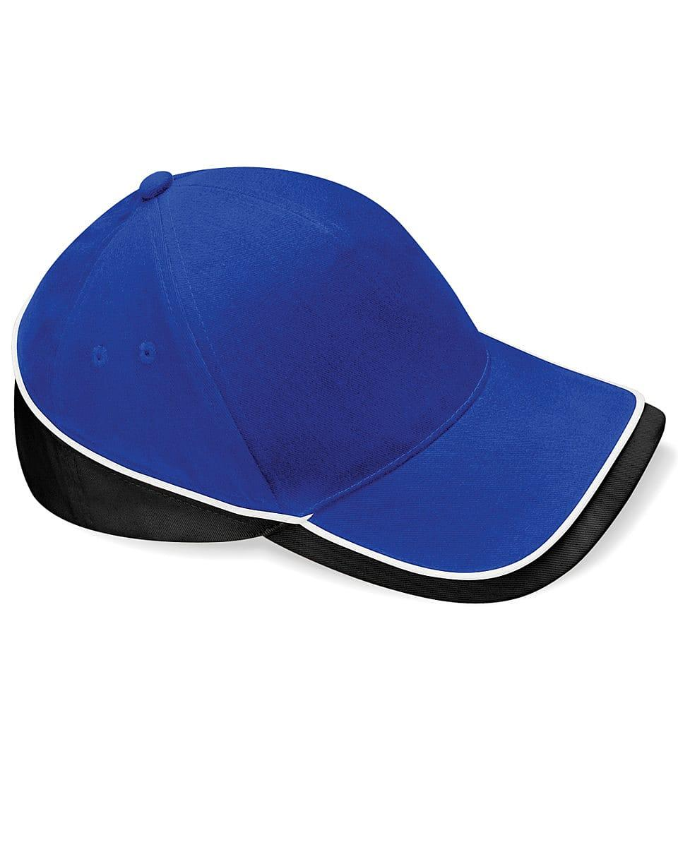 Beechfield Teamwear Competition Cap in Bright Royal / Black / White (Product Code: B171)