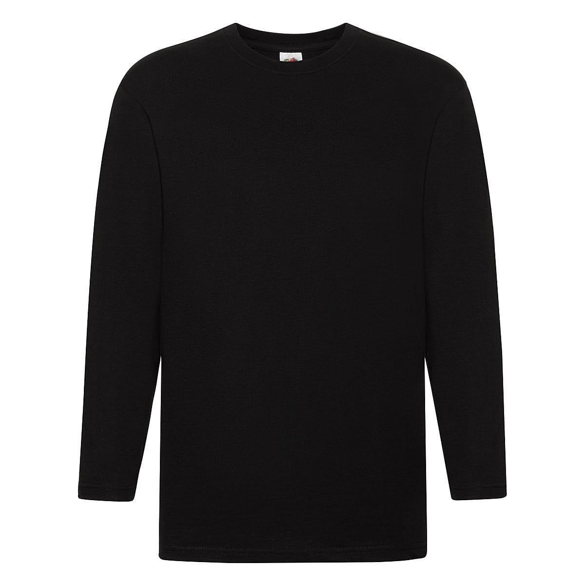 Fruit Of The Loom Super Premium Long-Sleeve T-Shirt in Black (Product Code: 61042)