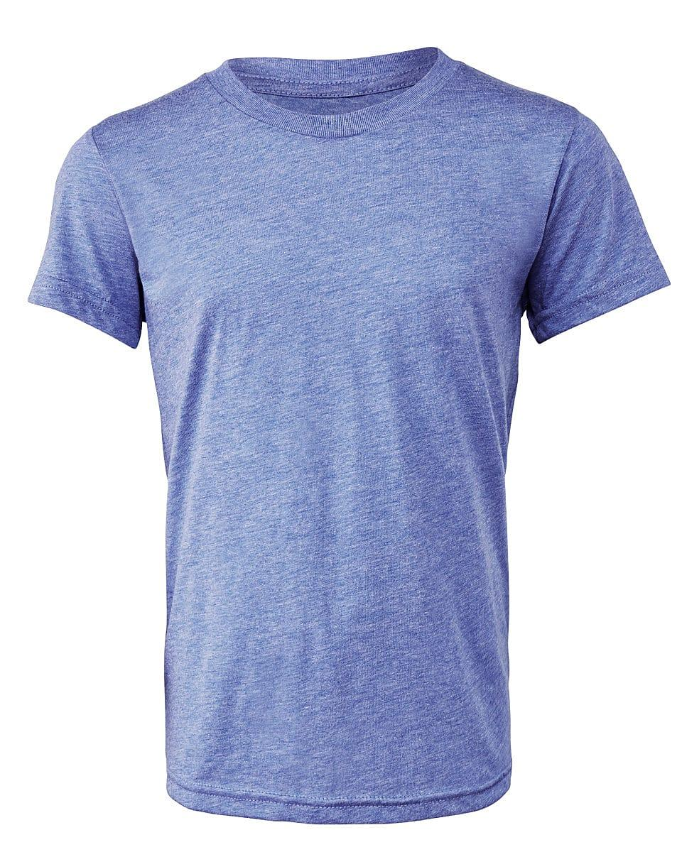 Bella Canvas Youth Triblend Short-Sleeve T-Shirt in Blue Triblend (Product Code: CA3413Y)