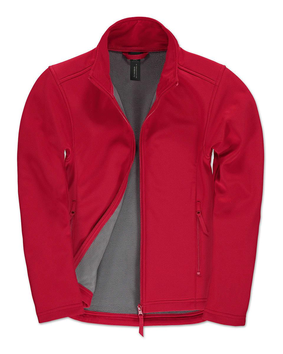 B&C Womens ID.701 Softshell Jacket in Red (Product Code: JWI63)