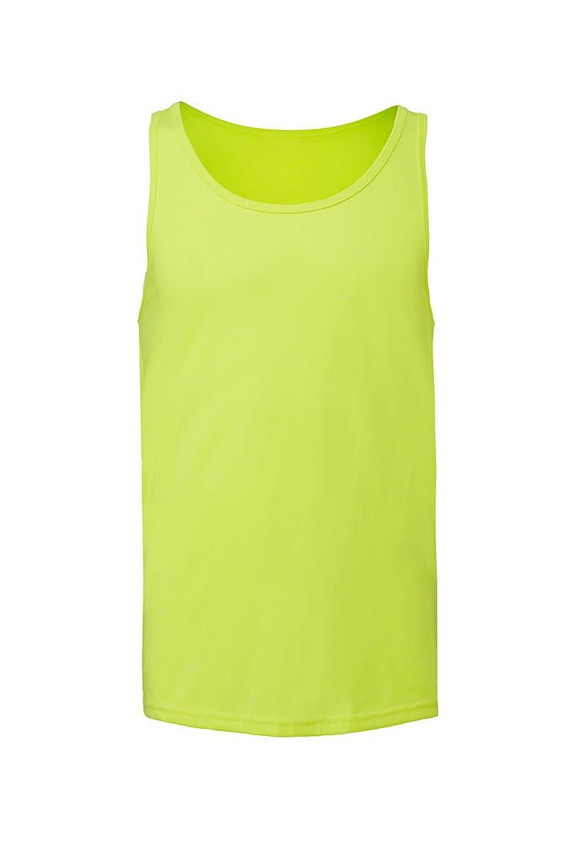 Bella Unisex Jersey Tank in Neon Yellow (Product Code: CA3480)