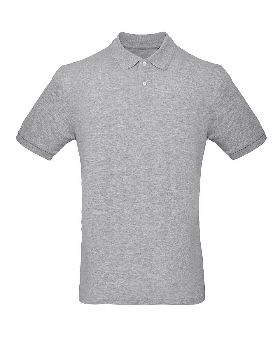 B&C Mens Inspire Polo Shirt in Heather Grey (Product Code: PM430)
