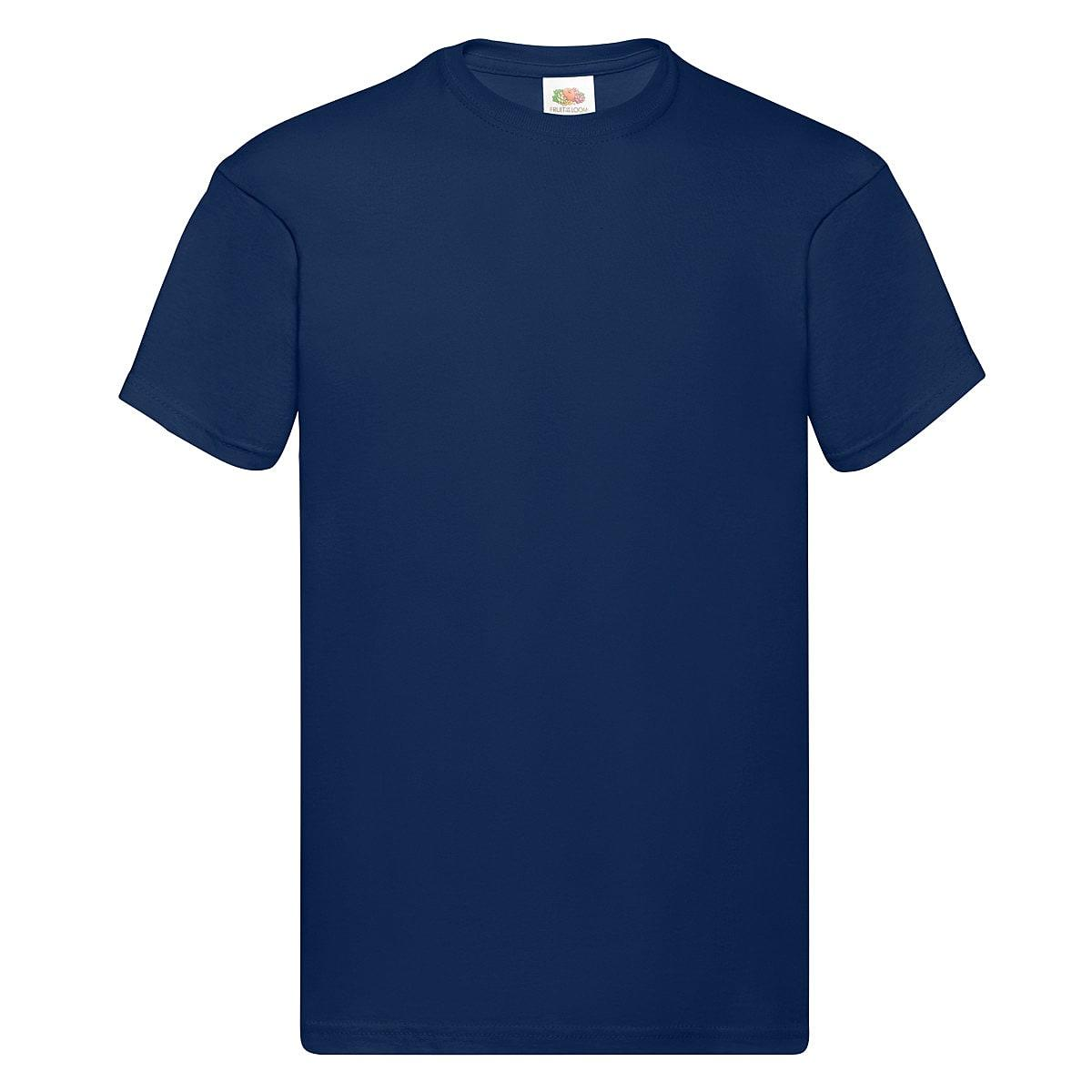 Fruit Of The Loom Original Full Cut T-Shirt in Navy Blue (Product Code: 61082)