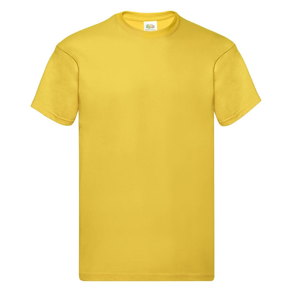 Fruit Of The Loom Original Full Cut T-Shirt in Sunflower (Product Code: 61082)