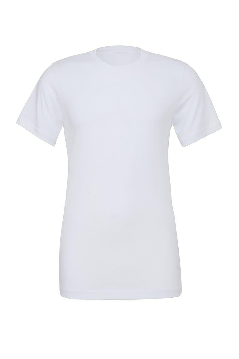 Bella Canvas Unisex Poly-Cotton Short-Sleeve T-Shirt in White (Product Code: CA3650)