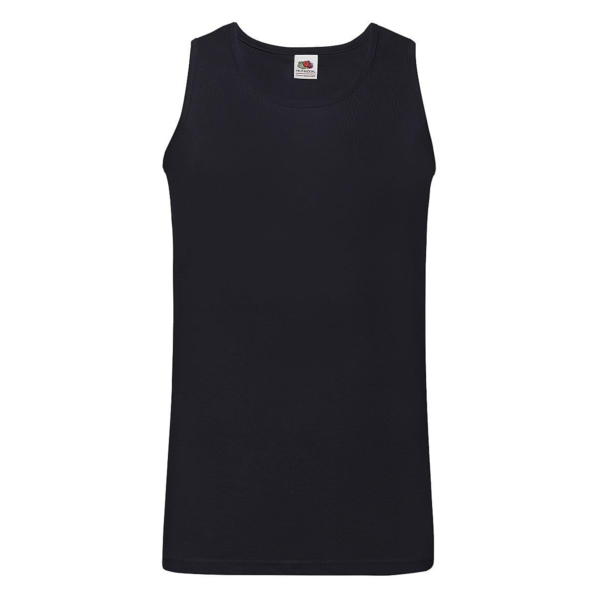 Fruit Of The Loom Athletic Vest in Deep Navy (Product Code: 61098)