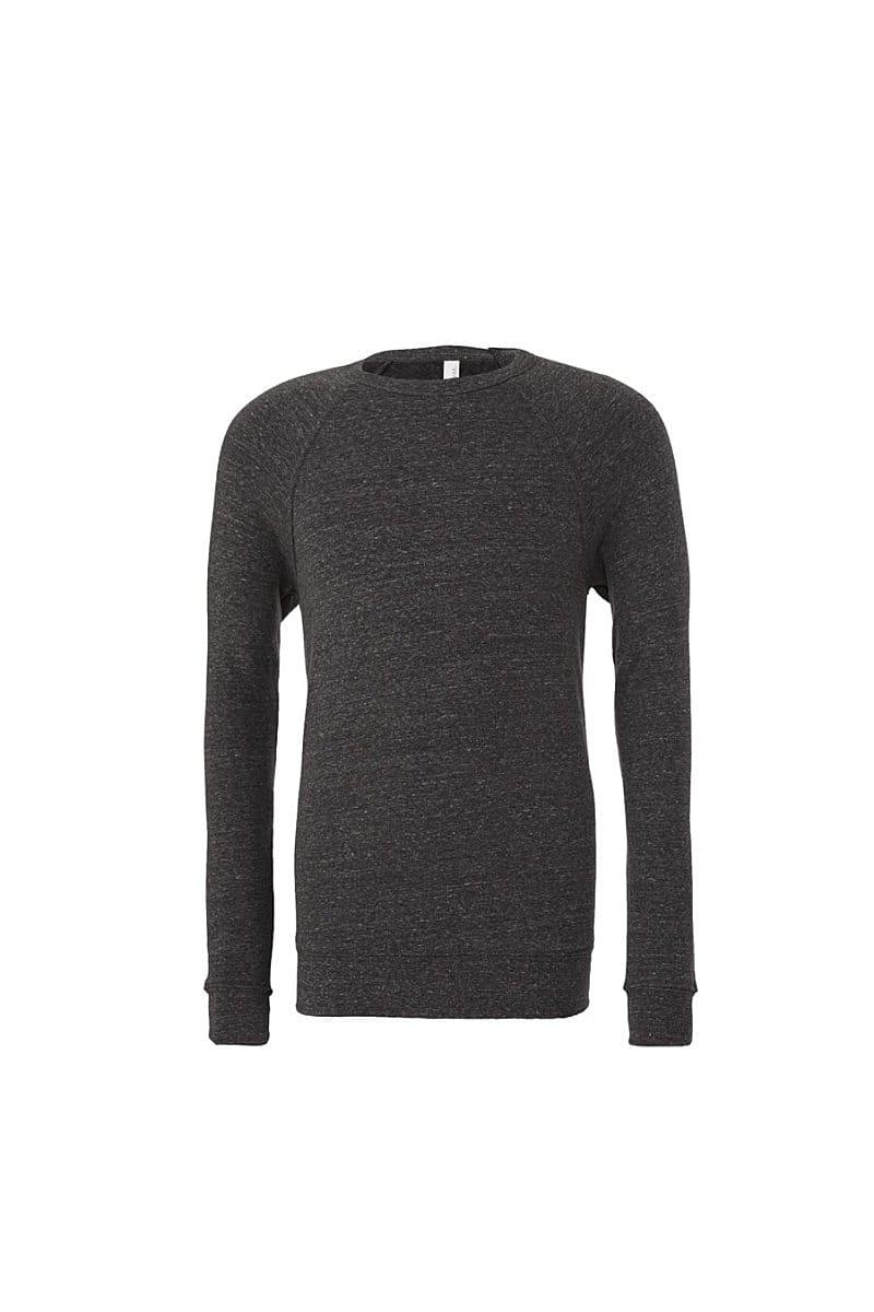 Bella Canvas Unisex Sponge Fleece Raglan Sweater in Dark Grey Heather (Product Code: CA3901)