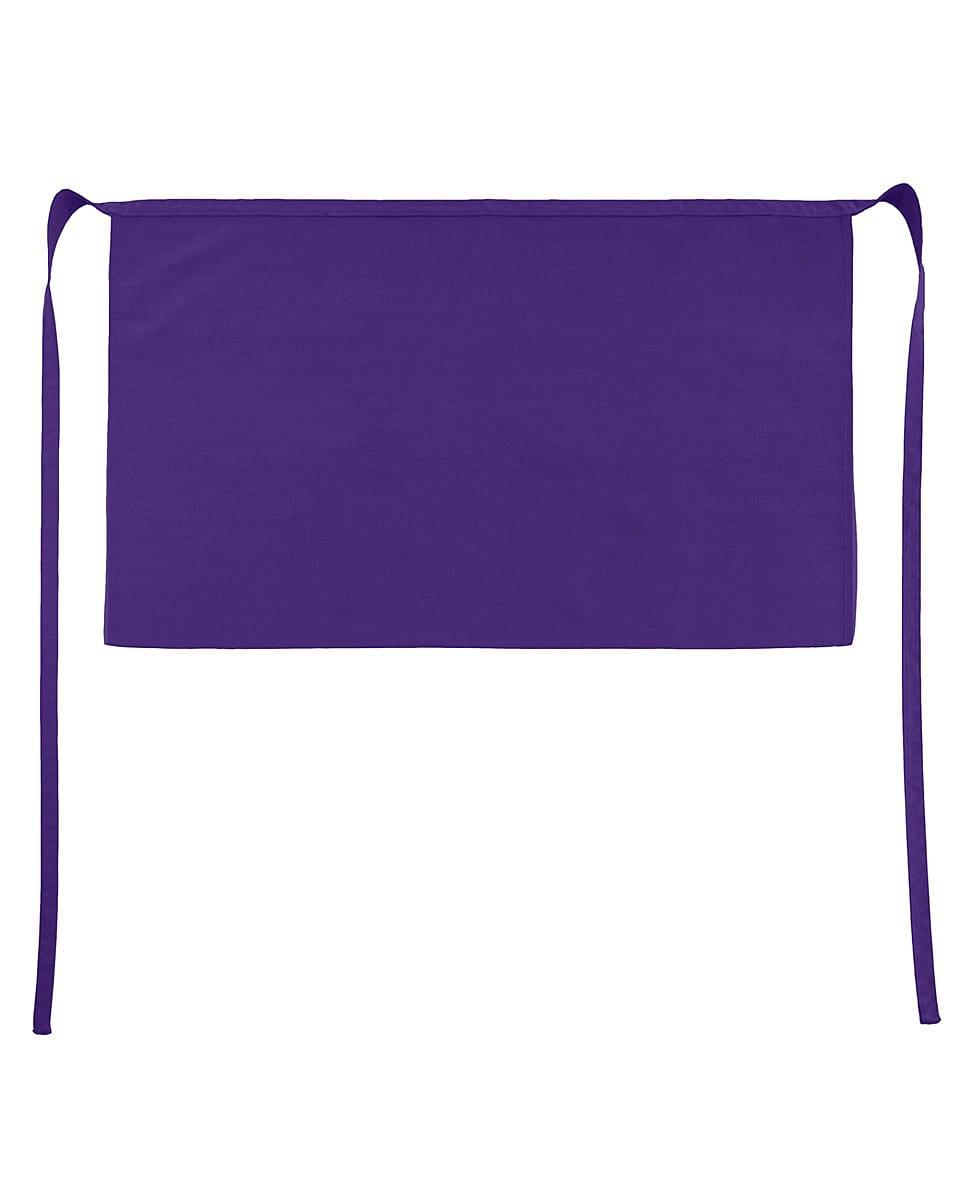 Jassz Bistro Brussels Short Apron in Purple (Product Code: JG14)