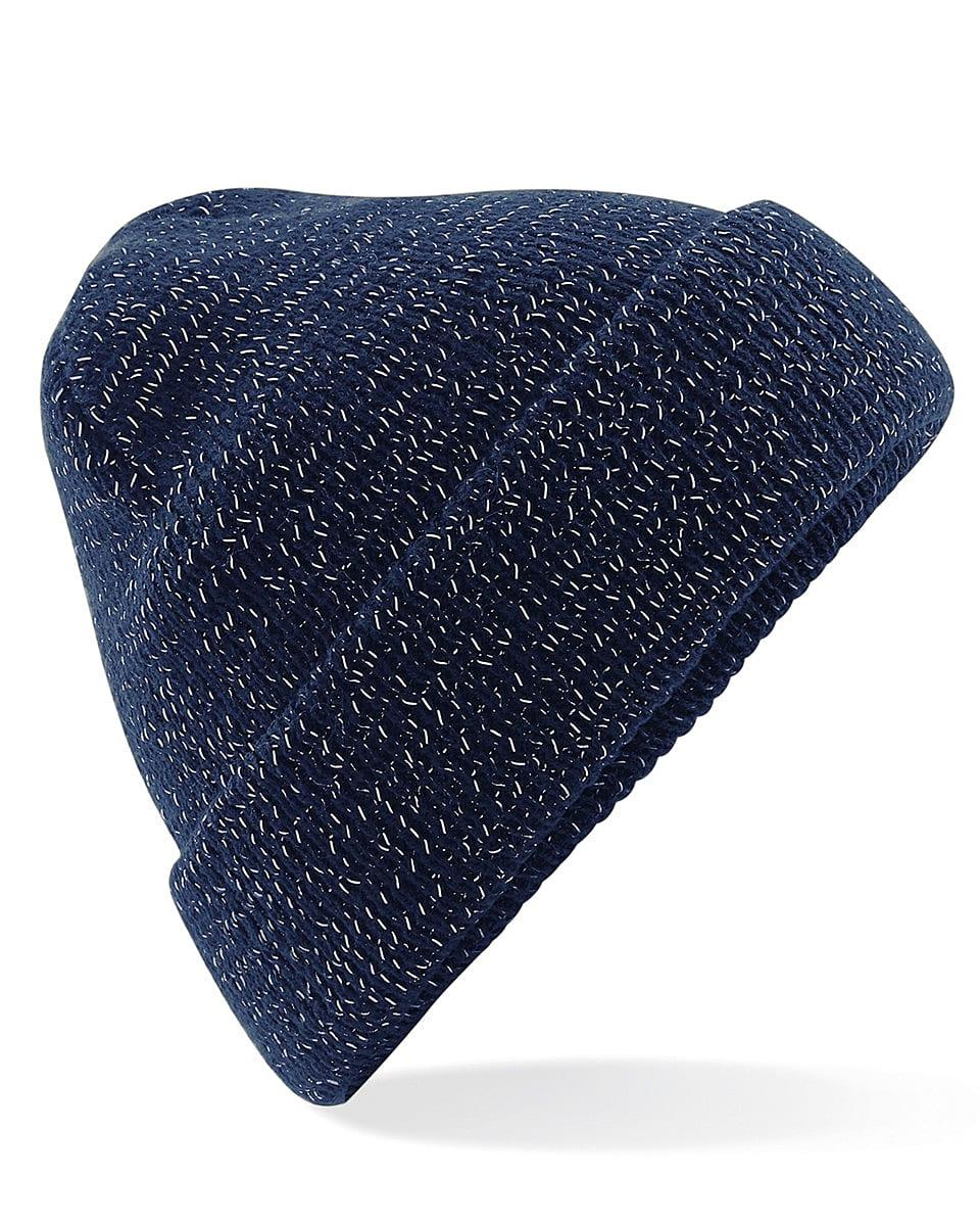 Beechfield Reflective Beanie Hat in French Navy (Product Code: B407)