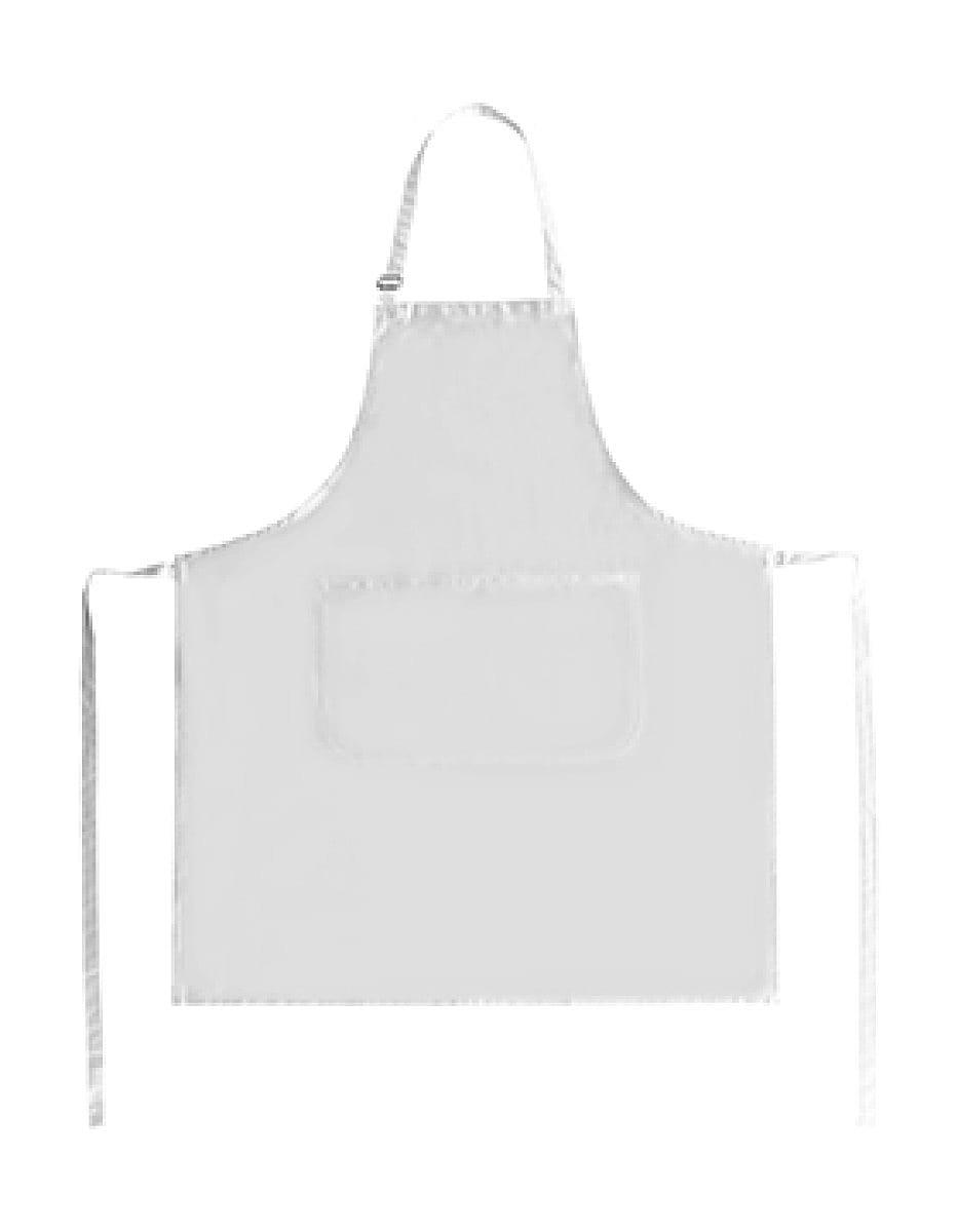 Bistro By Jassz Lisbon Cotton Bib Apron in Snow White (Product Code: JG20)