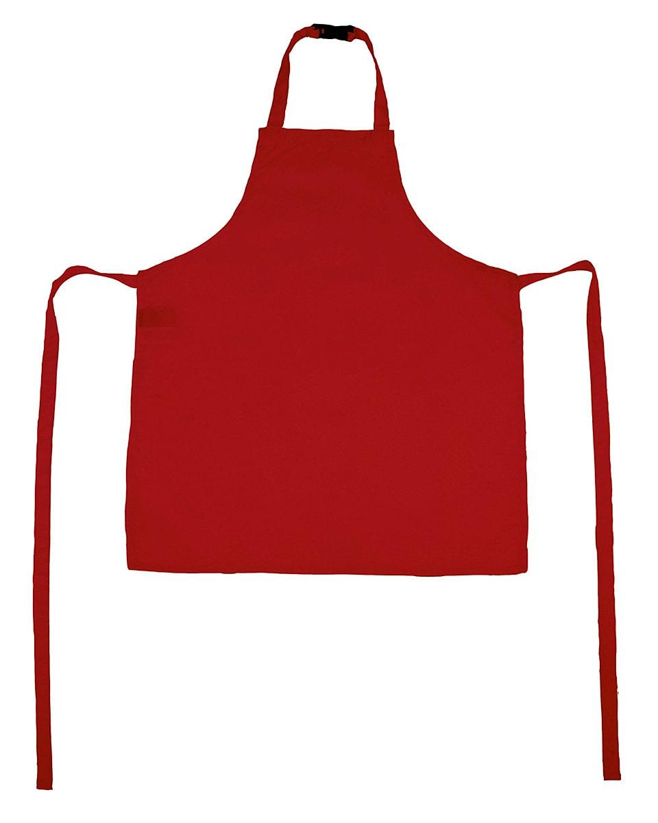 Jassz Bistro Childrens Vienna Apron in Red (Product Code: JG21K)