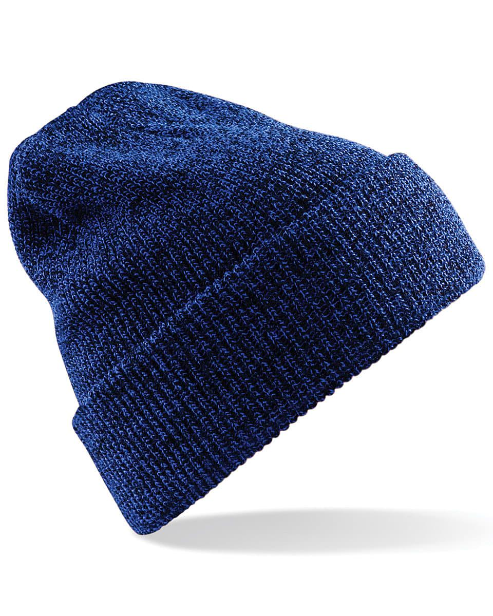 Beechfield Heritage Beanie Hat in Antique Royal Blue (Product Code: B425)