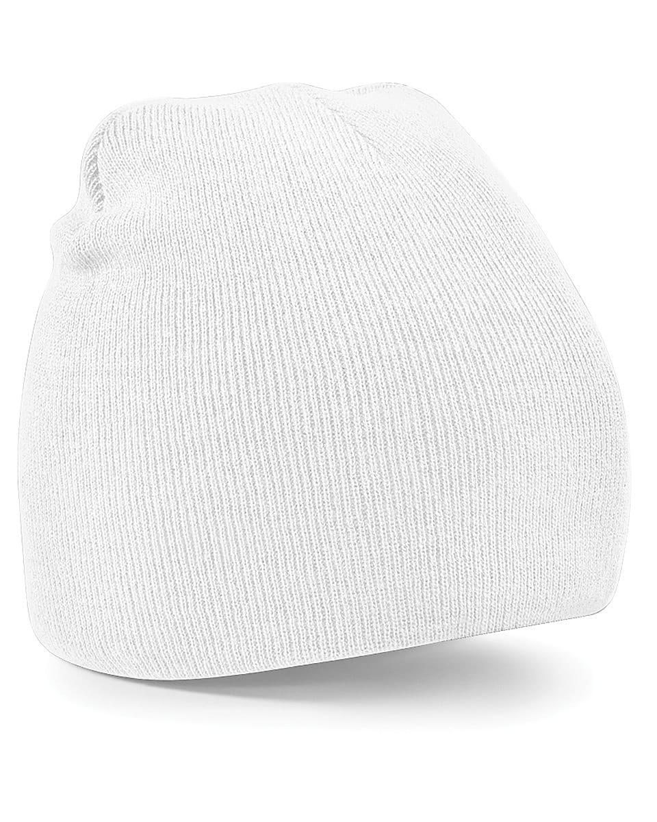 Beechfield Original Pull-On Beanie Hat in White (Product Code: B44)