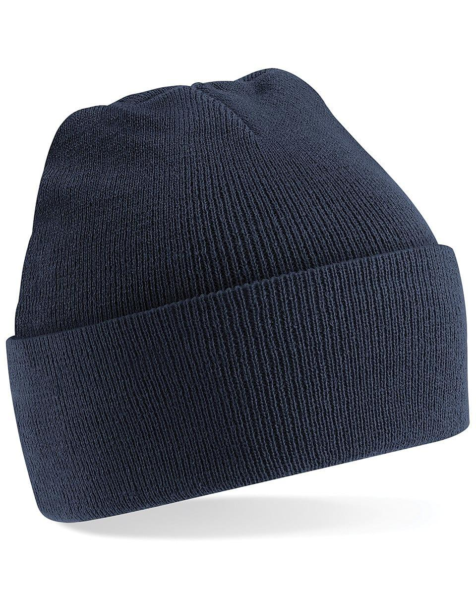 Beechfield Original Cuffed Beanie Hat in French Navy (Product Code: B45)