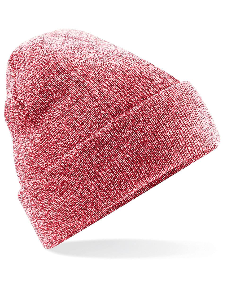 Beechfield Original Cuffed Beanie Hat in Heather Red (Product Code: B45)