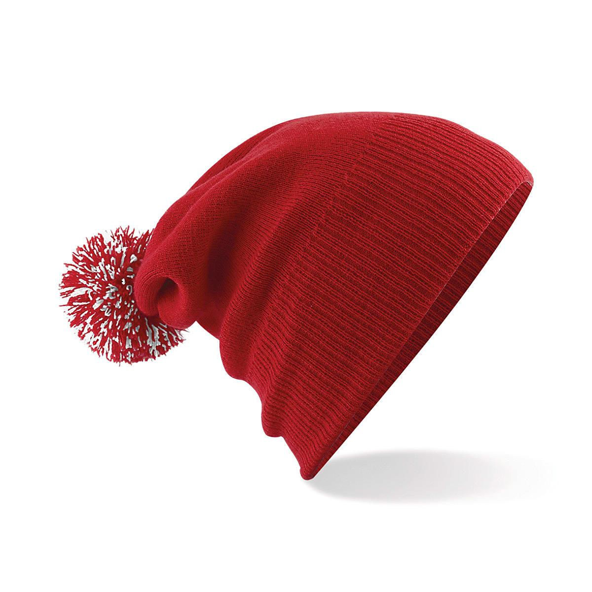 Beechfield Snowstar Beanie Hat in Classic Red / White (Product Code: B450)