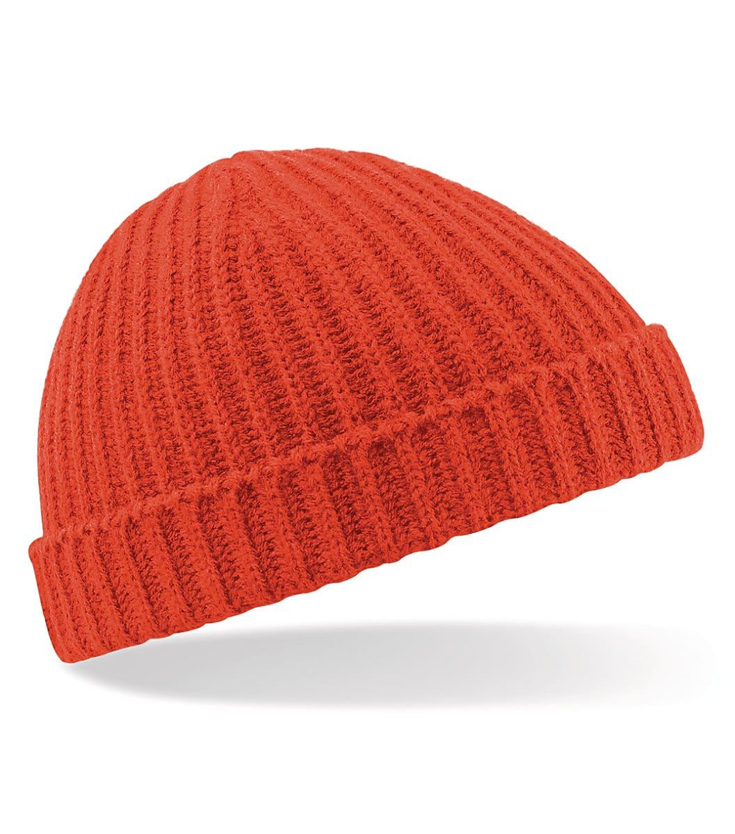 Beechfield Trawler Beanie Hat in Fire Red (Product Code: B460)