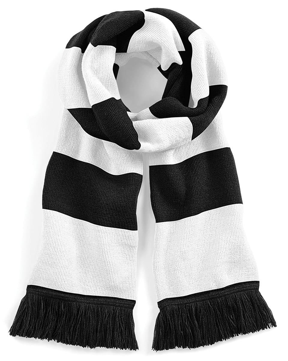 Beechfield Varsity Scarf in Black / White (Product Code: B479)