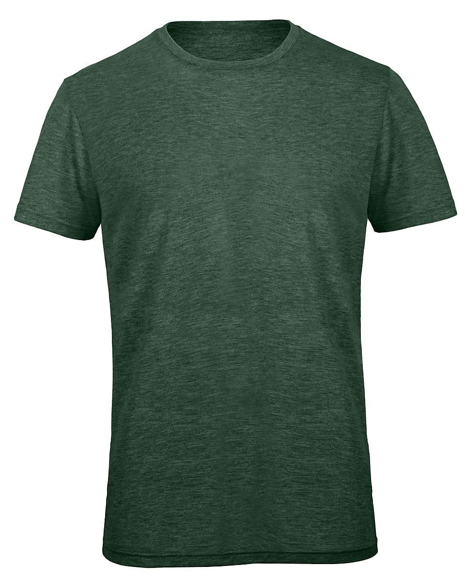 B&C Mens Inspire Triblend T-Shirt in Heather Forest Green (Product Code: TM055)