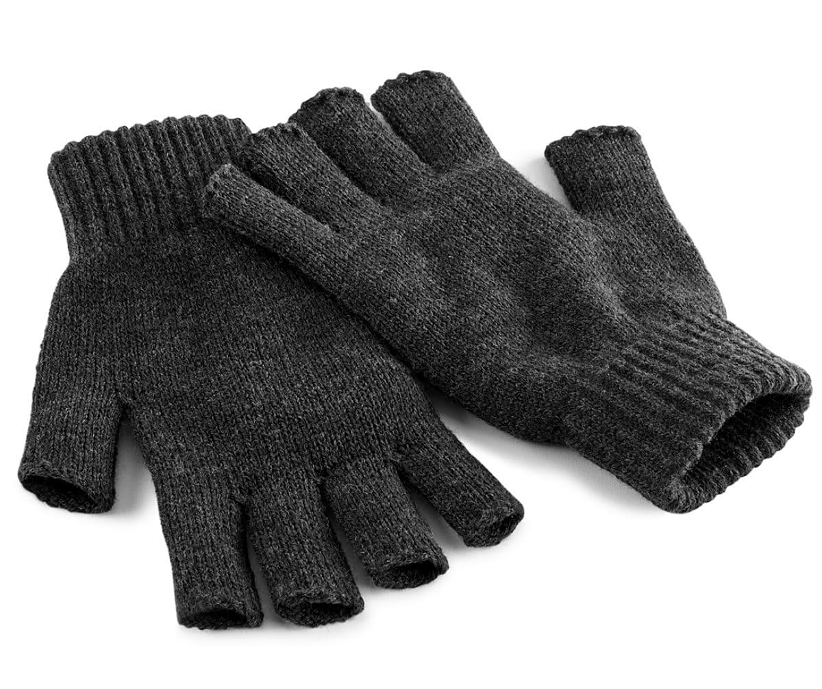 Beechfield Fingerless Gloves in Charcoal (Product Code: B491)