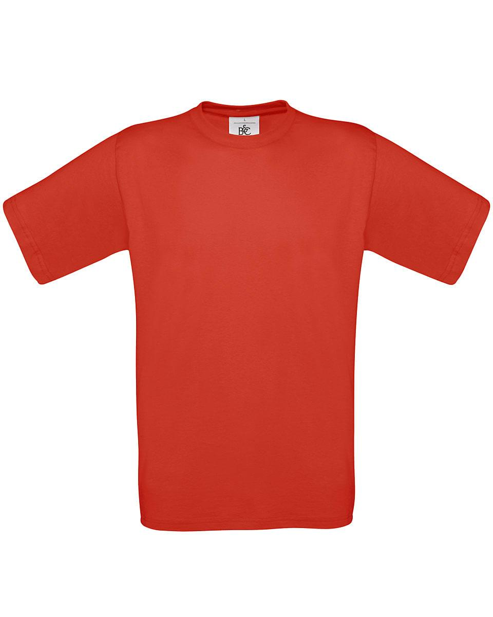 B&C Mens Exact 150 T-Shirt in Red (Product Code: TU002)