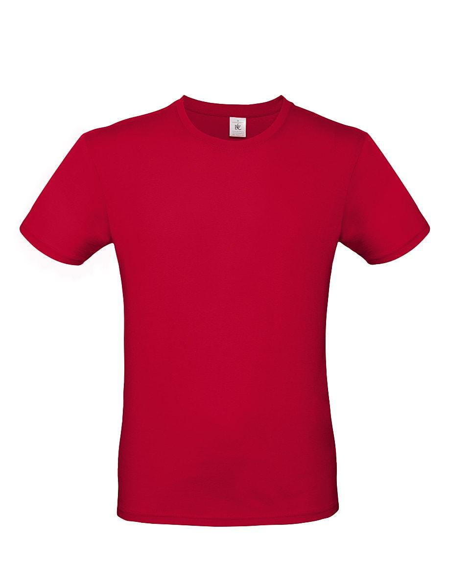 B&C Mens E150 T-Shirt in Deep Red (Product Code: TU01T)