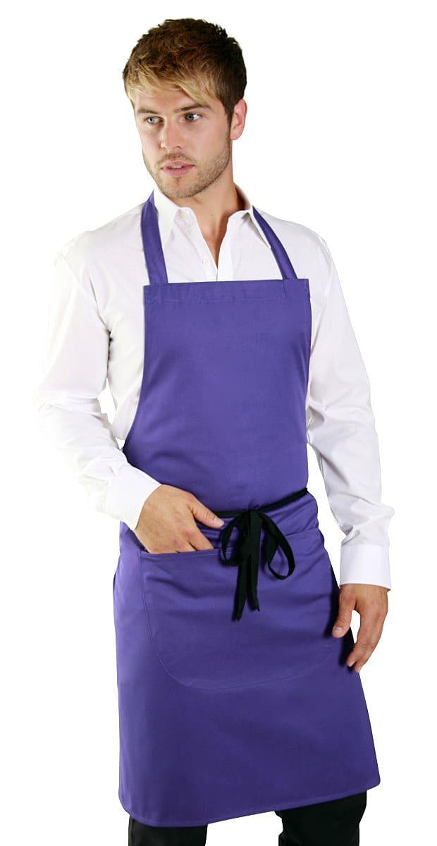 Dennys Polycotton Bib Apron with Pocket (Product Code: DP55)