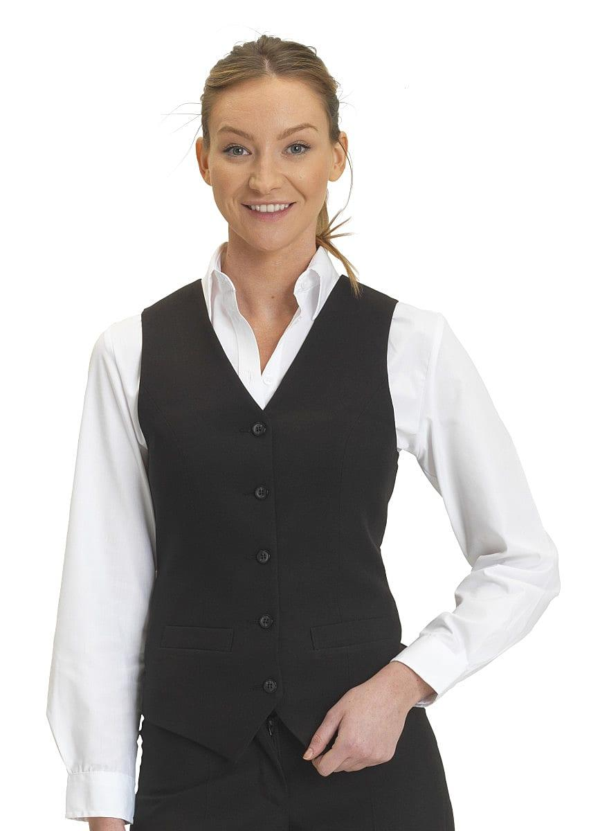 Dennys Womens Self Back Waistcoat in Black (Product Code: DS13)
