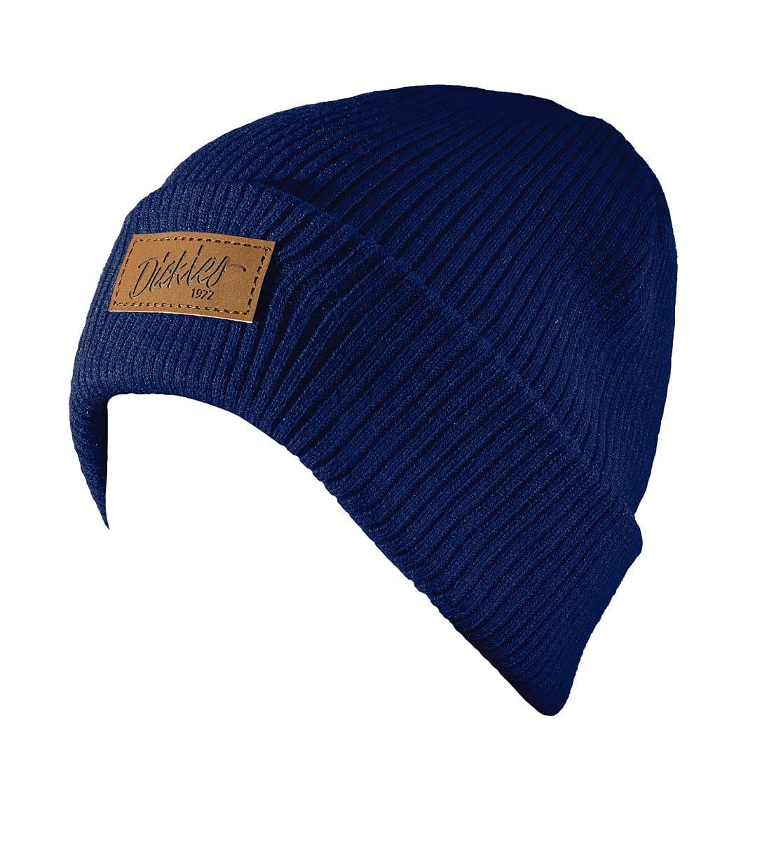 Dickies Evadale Branded Beanie Hat in Navy Blue (Product Code: DT8003)