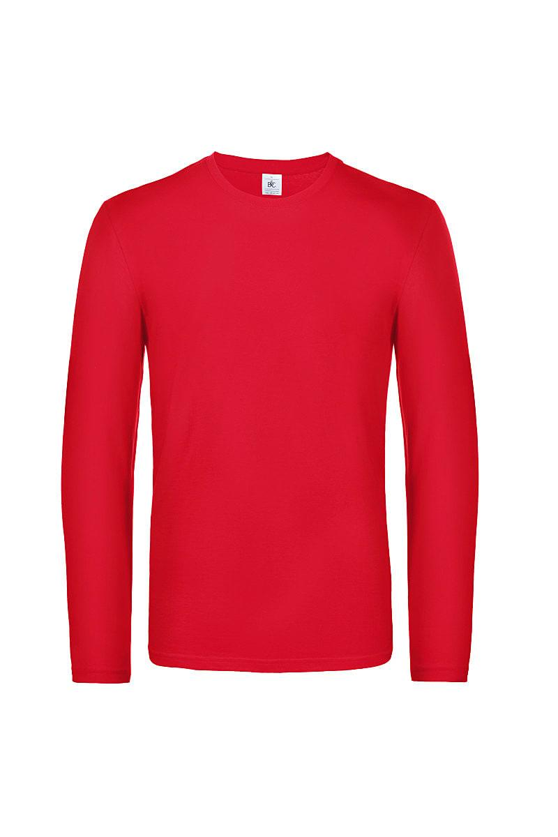 B&C Mens E190 Long-Sleeve Jersey in Red (Product Code: TU07T)
