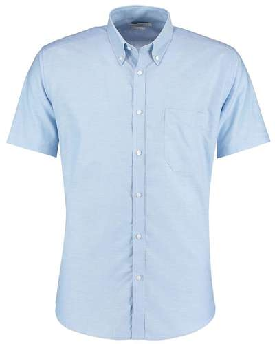 Kustom Kit Mens Short-Sleeve Slim Fit Shirt