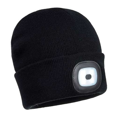 Portwest Rechargeable Twin LED Beanie Hat