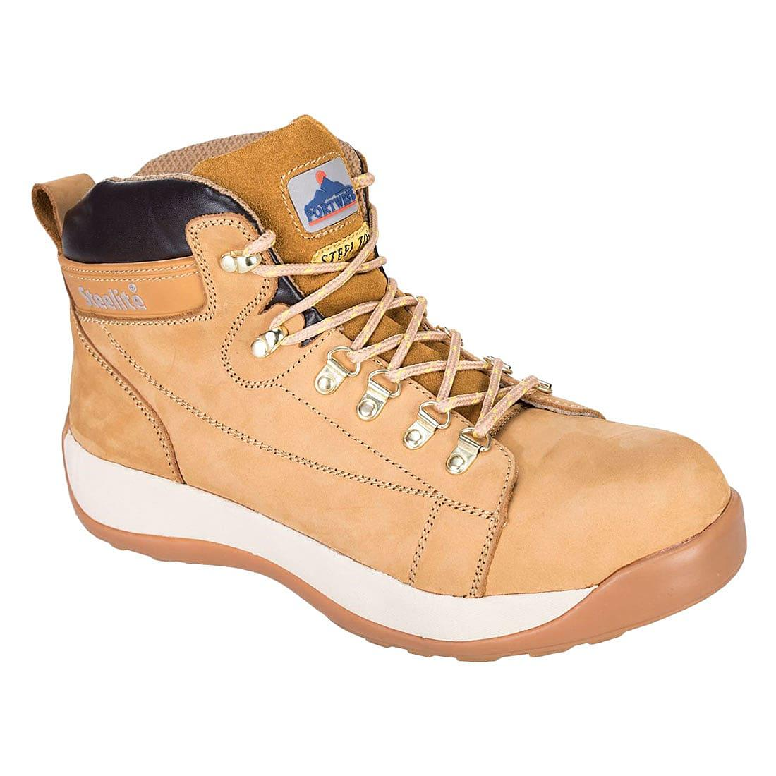 Portwest Steelite Mid Cut Nubuck Boots SB HRO in Honey (Product Code: FW31)