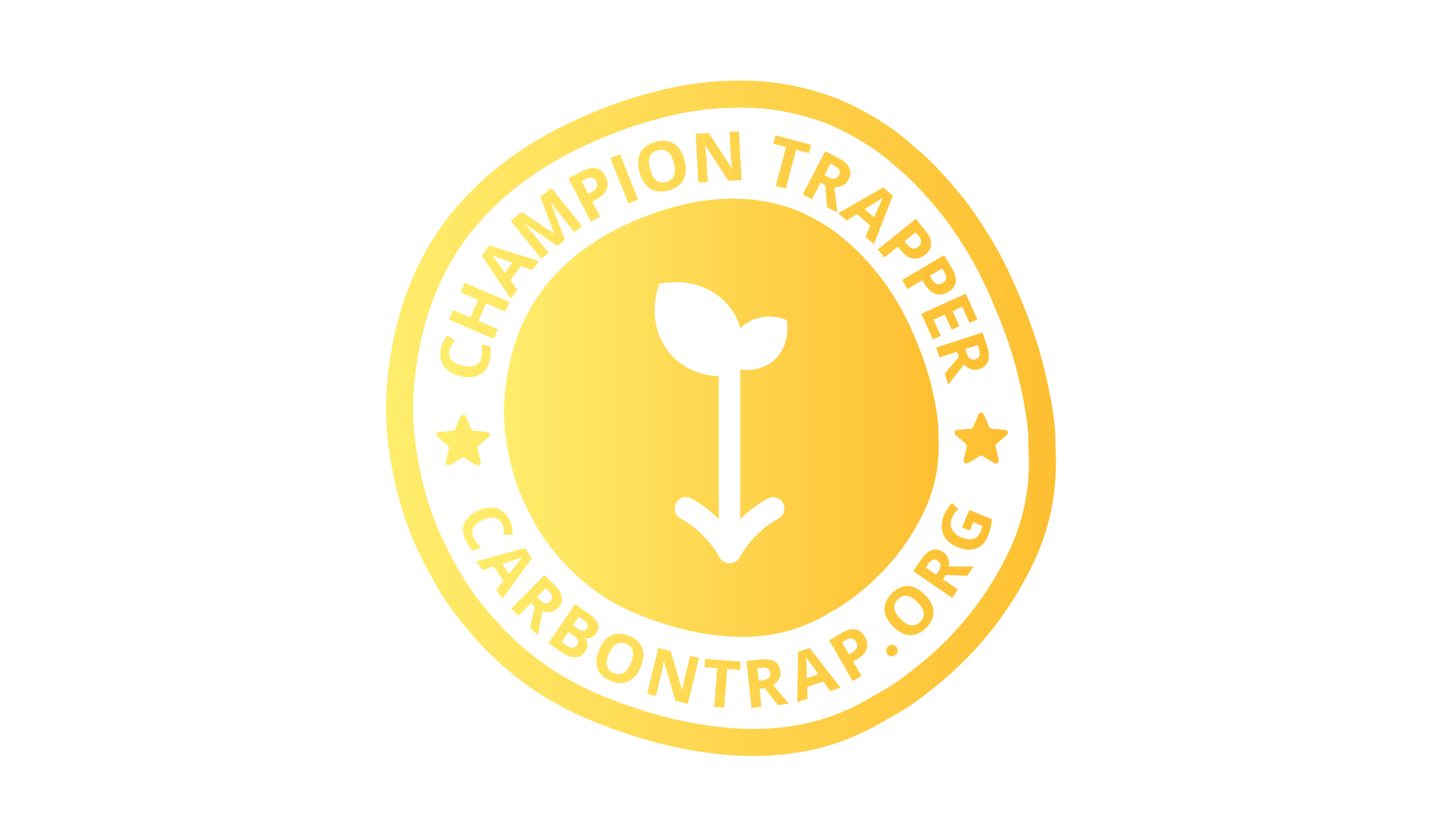 The Champion Trapper badge from Carbon Trap - a monthly subscription