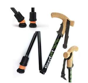 flexyfoot folding cork handle walking stick