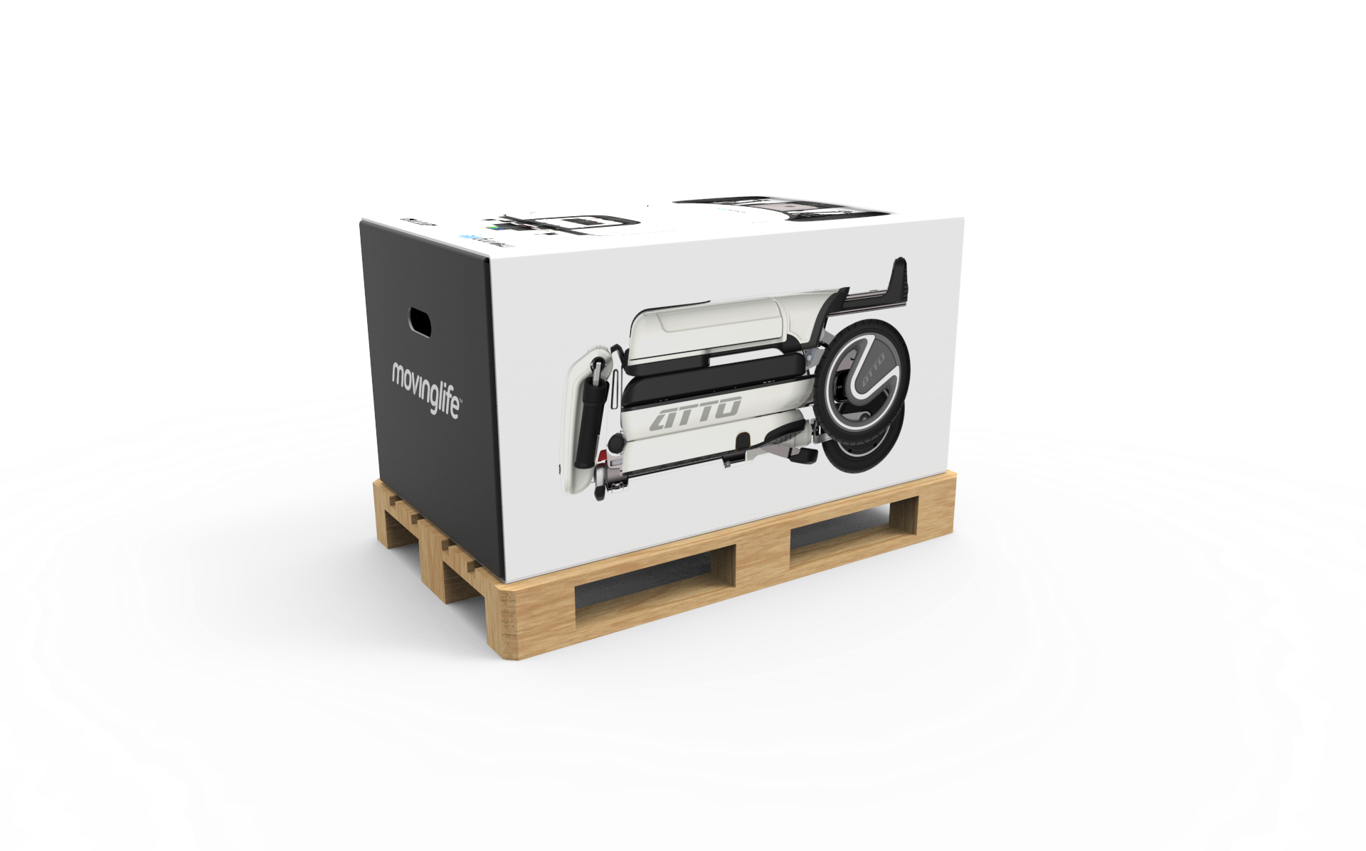 ATTO Mobility Scooter in the box