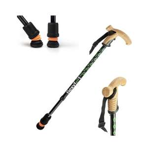 Flexyfoot telescopic cork handle walking stick
