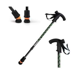 Flexyfoot telescopic derby handle walking stick